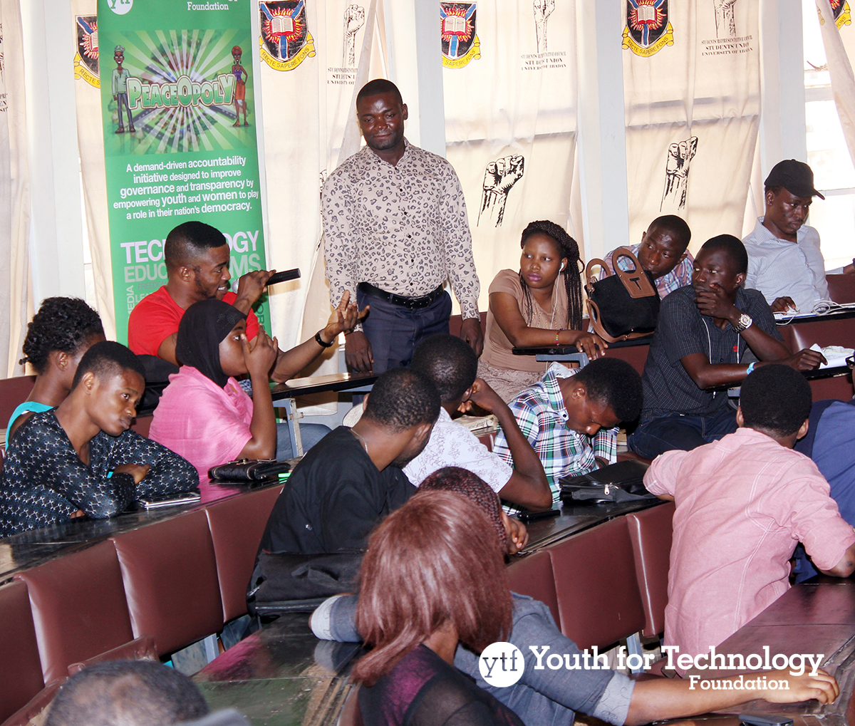 PeaceOpoly workshop session at the University of Ibadan Oyo State on Feb. 3, 2015