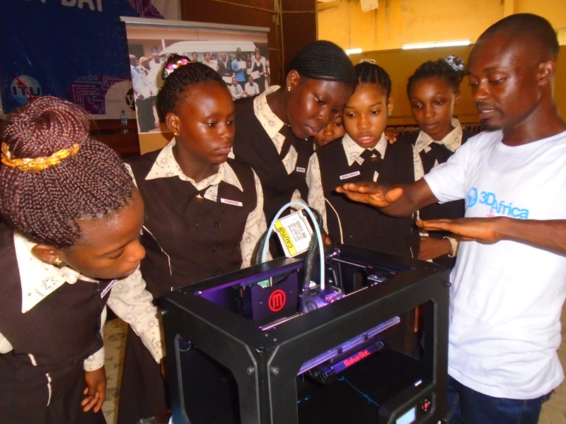 We showcased 3D printing technology.