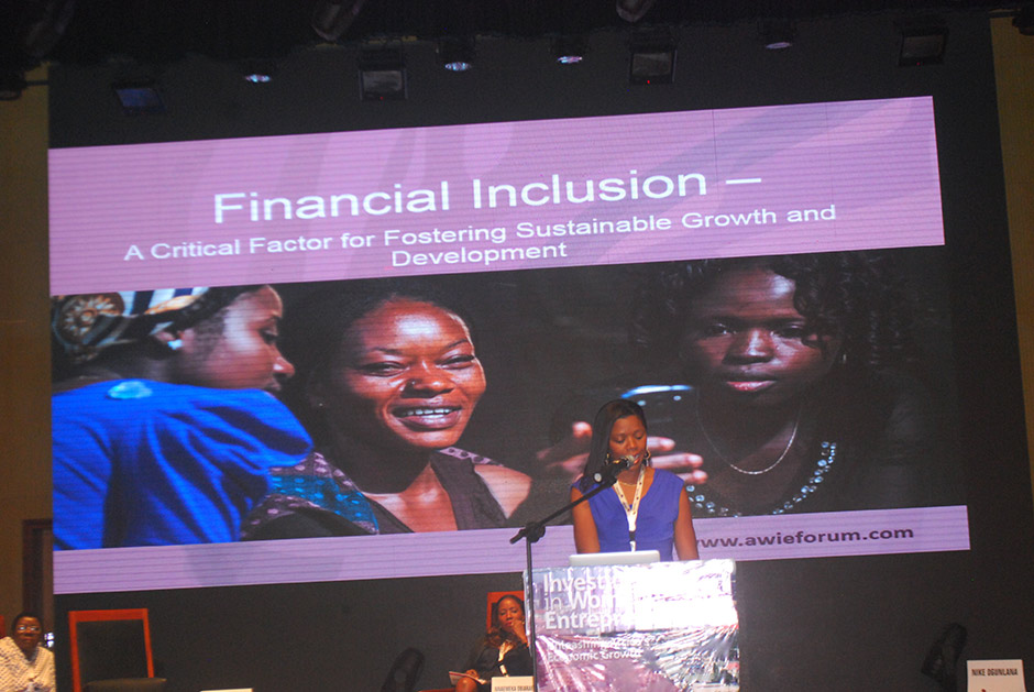 YTF's President sharing our work with financial inclusion and technology serving women entrepreneurs in Nigeria.