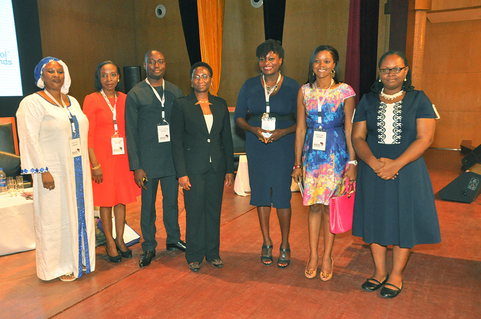 Njideka Harry (second from right) with AWIEF conference presenters