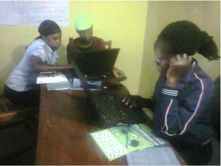 A picture from digital literacy training session