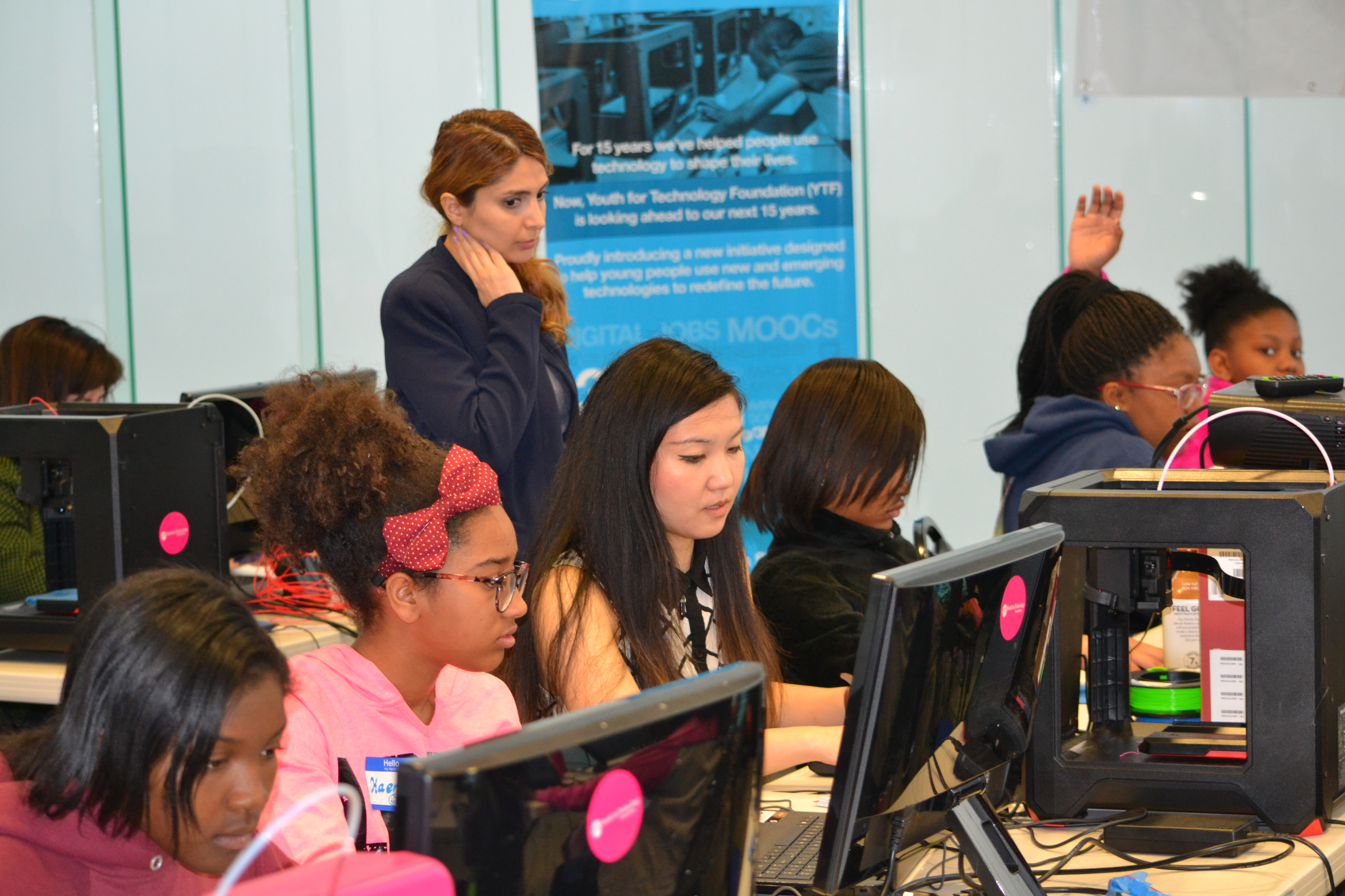 Narges at 3D Printing Academy for Girls