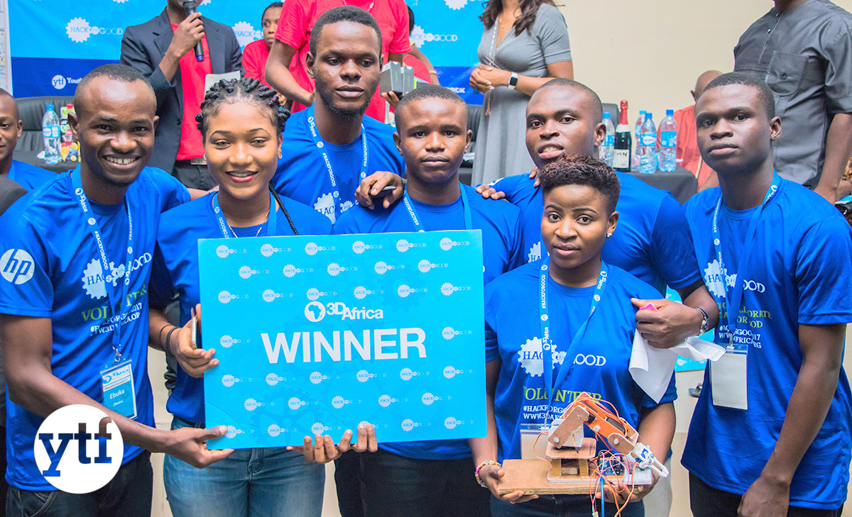 3d Africa Hackathon winning team
