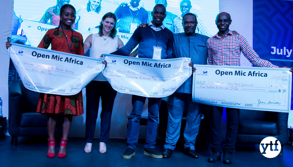 YTF Team's Invention Takes Top Prize at Open Mic Africa