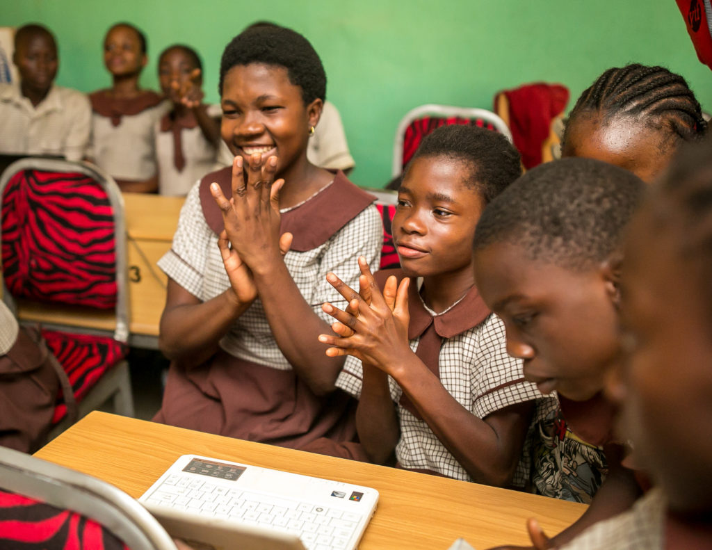 Girls Learning About Technology